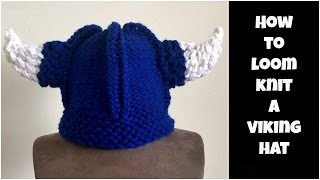 How to loom knit a Viking hat