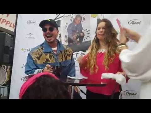 J.Balvin In Store Music Stop