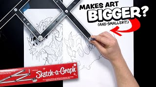 Making Drawings BIGGER or SMALLER - This cheap toy ACTUALLY WORKS!??...