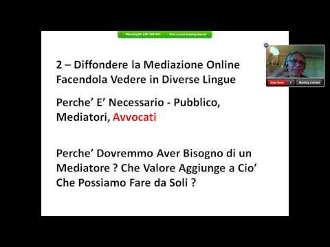 Mediazione Online   Webinar della Camera Arbitrale di Milano 24 6 2013   Parte 2 3