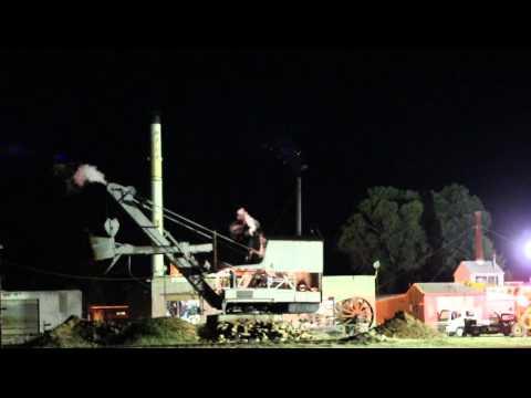 1924 Ruston Hornsby Steam Crane Night run
