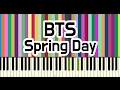 BTS 방탄소년단 봄날 Spring Day Piano Cover mp3