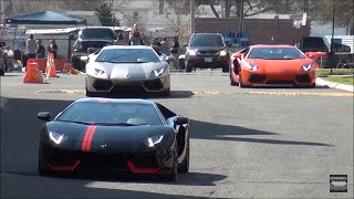 Lamborghini / Ferrari / Nissan GT-R // Leaving Children's M N Car Show 2015
