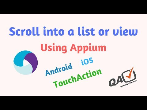Scroll using Appium into a list view till element found