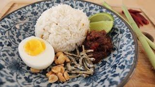 How To Make Nasi Lemak - Malaysian Food