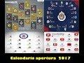 Calendario del Torneo Apertura 2017   LIGA MX