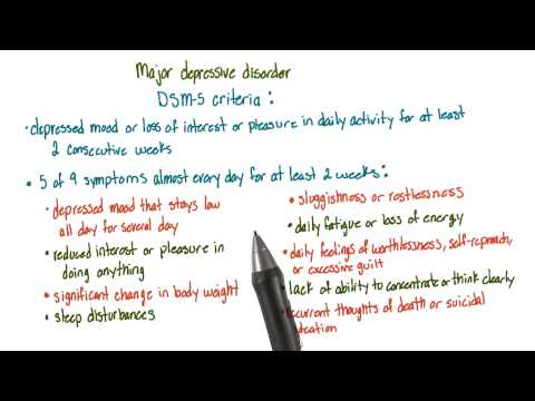 Major depressive disorder - Intro to Psychology