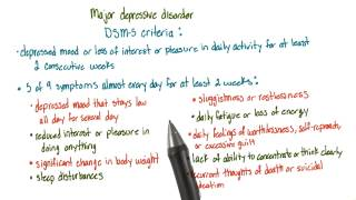 Major depressive disorder - Intro to Psychology