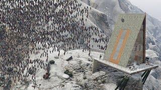 GTA 5 - MEGA Zombie HOARDS! (FROZEN Los Santos & Zombie Outbreak)