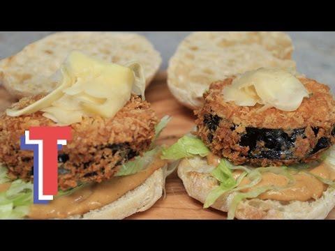 Asian-Style Aubergine Satay Burger | Eat Up