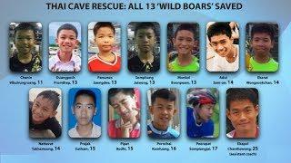 Toàn cảnh giải cứu thành công đội bóng 13 người ra khỏi hang Tham Luang