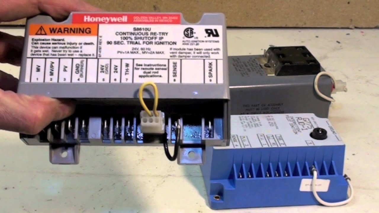 gas furnace spark ignition controls youtube rh youtube com Honeywell Gas Valve Wiring Diagram Honeywell Thermostat Wire Colors