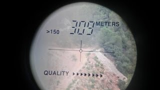 long range shooting with an air rifle 309 meters Kalibrgun Cricket .25