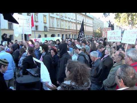 OccupyLjubljana - 15 October 2011 - vidblog