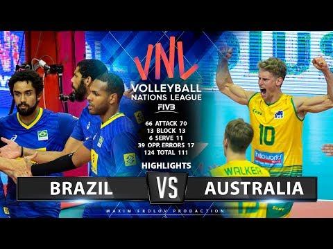 Brazil Vs Australia | Highlights | Men's VNL 2019