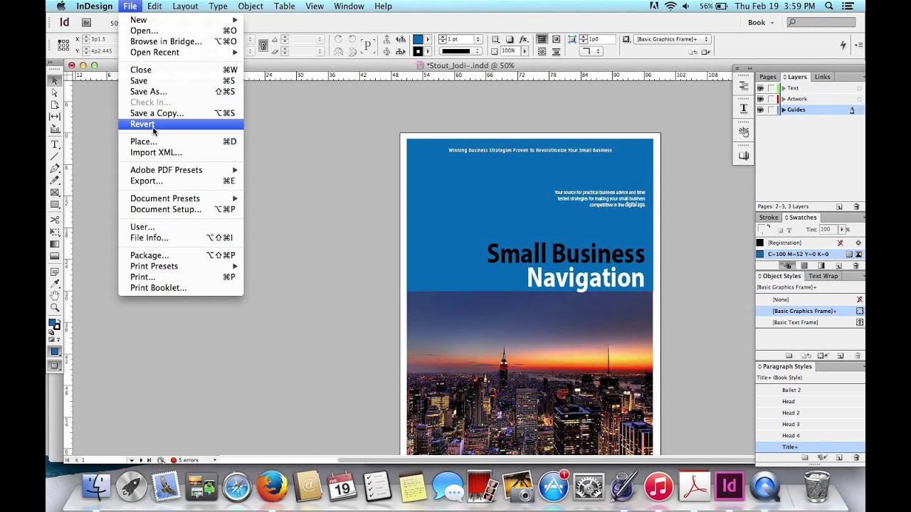 Indesign files to pdf