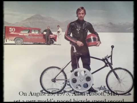 Allan Abbott   1973 Bonneville Salt Flats  Bicycle Speed Record