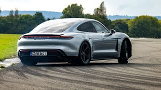 PREVIEW: Chris Harris Drifts The Porsche Taycan Turbo S | Top Gear: Series 28
