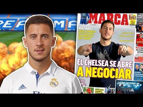 BREAKING: Real Madrid To Break Transfer Record On Eden Hazard For £100 Million?! | Transfer Talk
