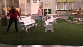 Convert-a-bench Ultra Ii Outdoor 2-in-1 Bench-to-table W/5 Year Lmw With Pat James-dementri