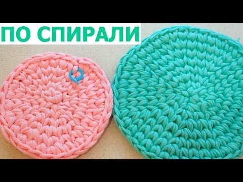 вязание круга крючком пошагово