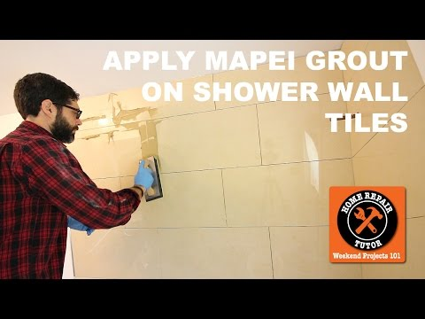 How to Apply Mapei Grout (Keracolor U) on Shower Wall Tiles (Step-by