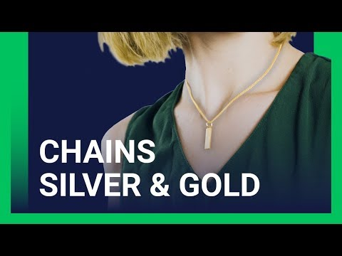 Custom Jewelry - Silver and Gold Chain [Printify Product Review]