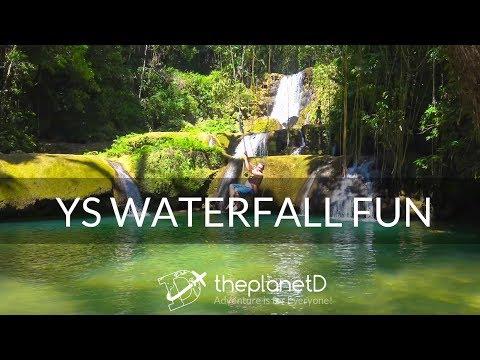 YS Waterfalls Jamaica - Fun Jamaica Travel Vlog- Sony 4K video