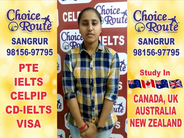 Congratulations Ravneet Kaur - Choice Route is the Best PTE and IELTS institute in Sangrur City.