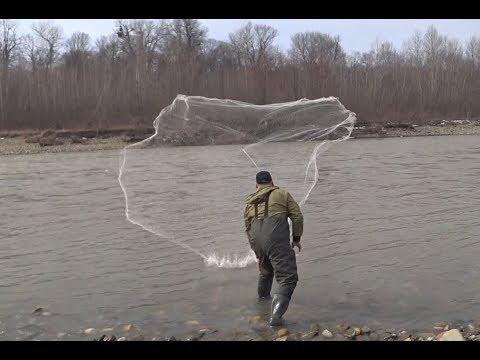 Испытание КАСТИНГОВОЙ СЕТИ 6 М ДИАМЕТР!!! Рыбалка Кастинговой Сетью