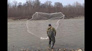 Испытание КАСТИНГОВОЙ СЕТИ 6 М ДИАМЕТР Рыбалка Кастинговой Сетью