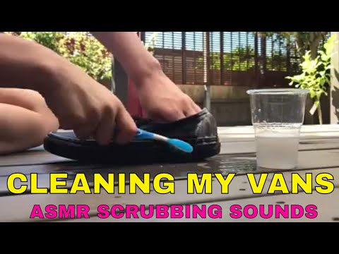 How to Clean Vans (All Natural ASMR)