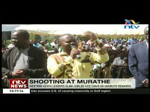 Western Kenya leaders slam Jubilee vice chairman on Uhuru-Ruto remarks