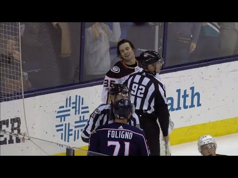 Gotta See It: Ducks' Gibson trips Foligno, then goes after Blue Jackets player