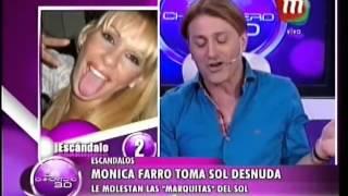 Mónica Farro toma sol desnuda