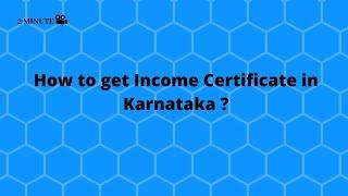 How To Get Income Certificate In Karnataka Youtube