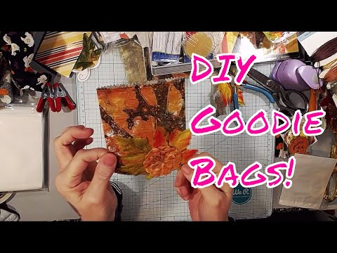 Fall Themed Goodie bags -Different Ways To Make them - Fabric, Tea Bag, Paper