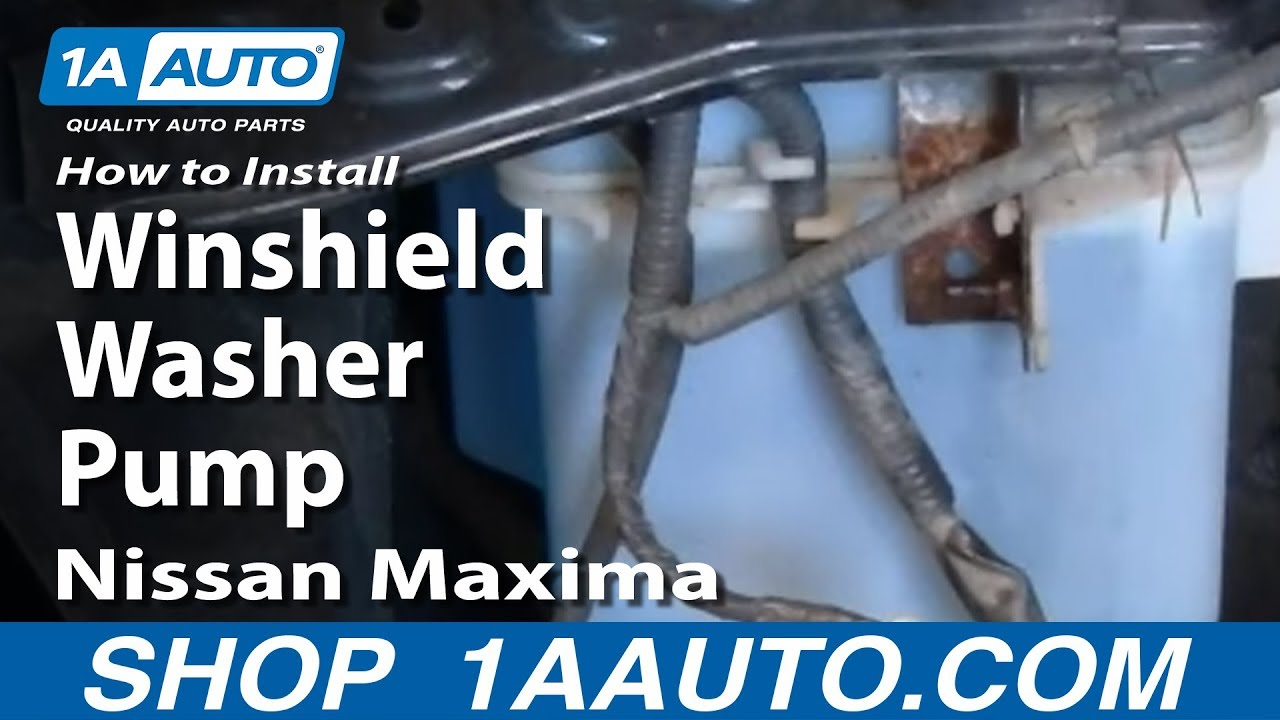 How To Replace Windshield Washer Pump 00 03 Nissan Maxima