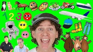 My First 100 Words in English Chant With Matt | Numbers, Colors, Animals | Learn English Kids