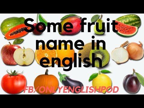 Fruit names with pictures in English - Tên các loại trái cây bằng tiếng anh