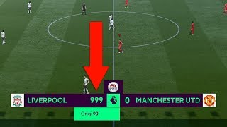 Whats the MAXIMUM GOALS you can score in 1 FIFA match?