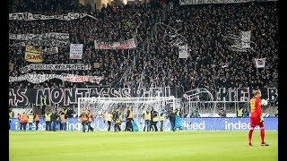 Frankfurt fans protest against Monday football