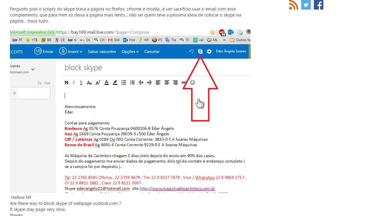 Email Outlook.com Hotmail.com live.com msn.com lentidão ...