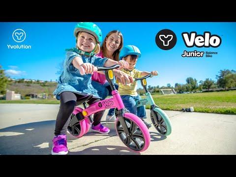 f4c2347fb3f Yvolution NEW Y Velo Junior Balance Bike with new color range! - YouTube