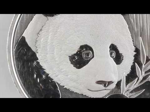 China - Panda - Silber Bullion Anlagemünze - 2018 - Details - First Look