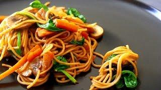 Recette de Lo Mein végétarien pâtes chinoises