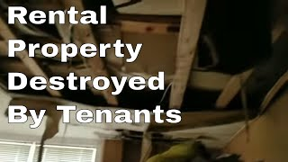 Tenant destroys house by running the water for over a week!