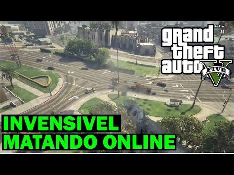 GTA 5 online GLITCH INVISIVEL E INVENCÍVEL NA SESSÃO, MATANDO ONLINE Dicas truques Segredos tutorial