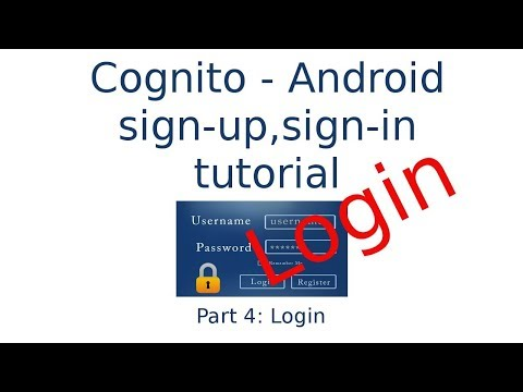Android app sign-in using AWS Cognito tutorial - YouTube