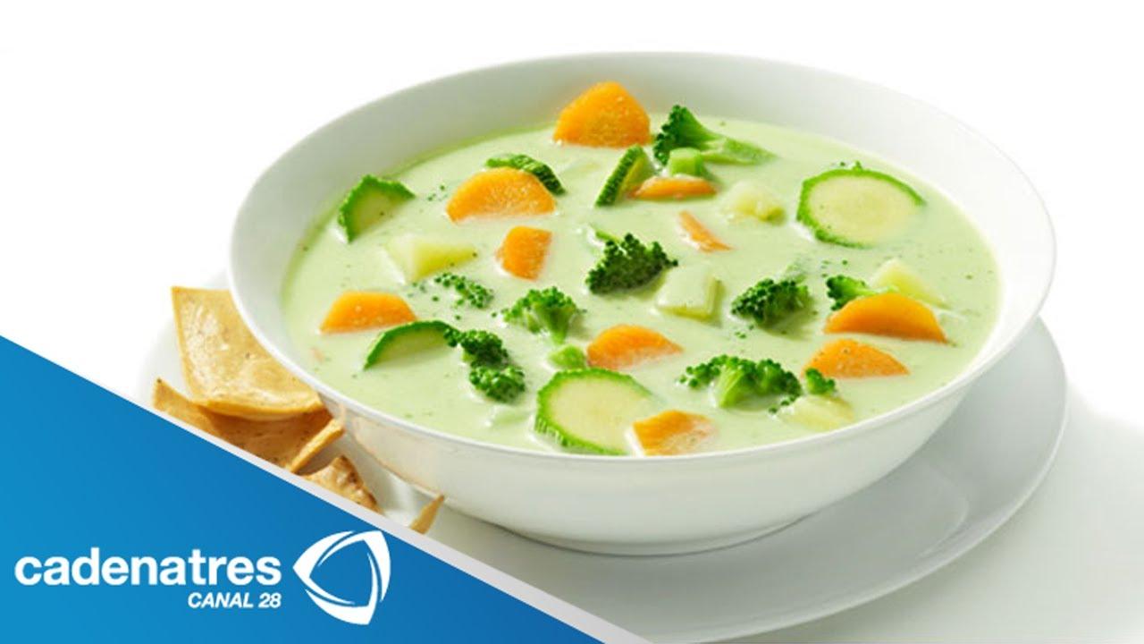 Receta De Sopa De Verduras Energizante
